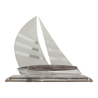 Lucite Sailboat Sculpture