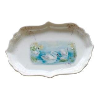1920's Art Deco Swan Porcelain Trinket Dish