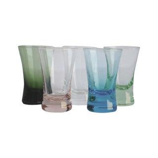 Vintage Multi-Colored Shot Glasses - Set of 5