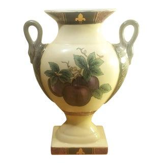 Porcelain Toyo Pedestal Fruit Motif Vase