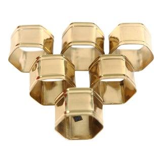 Brass Napkin Rings - Set of 6