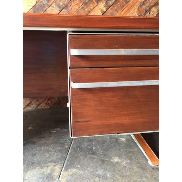 Vintage Cantilevered Executive Desk - Image 5 of 11