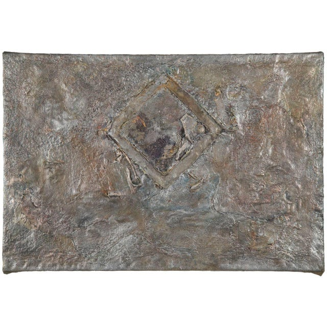 """Gladys Goldstein Absract Painting """"H20"""" - Image 1 of 9"""