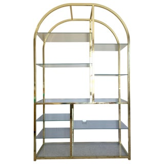 Milo Baughman for DIA Brass & Glass Etagere