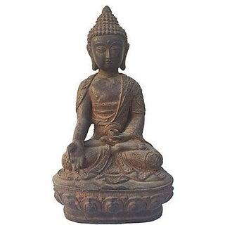 Antique Iron Buddha Statue