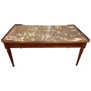Louis XVI Style Marble-Top Maison Jansen Low Table / Coffee Table