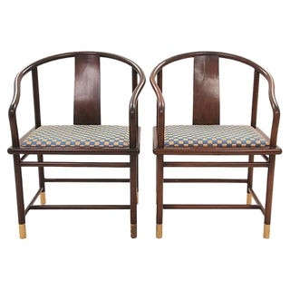 Stanely Jay Friendman for Brueton Tsu Chairs - A Pair
