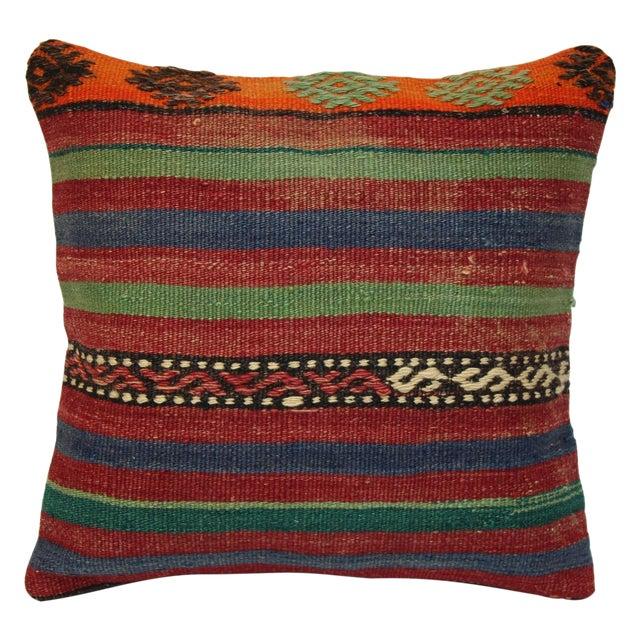 Turkish Handmade Kilim Pillow Cover - Image 1 of 7