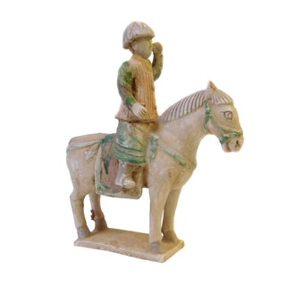 Chinese Pottery Clay Ancient Style Riding Horse