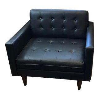 Joybird Black Leatherette Eliot Chair