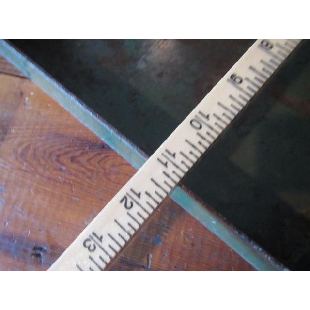 Vintage Industrial Green Painted Steel Drawer Bin Firewood Holder - Image 6 of 8
