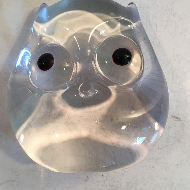 Image of Vintage Art Glass Owl