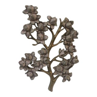 Vintage Syrocco Flowering Branch Wall Hanging