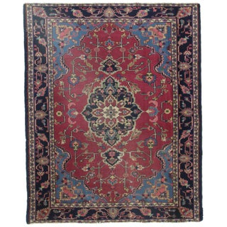 RugsinDallas Antique Turkish Hand Knotted Wool Rug - 5′1″ × 6′6″