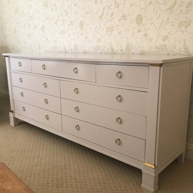 Vintage Baker Dresser With Brass Accents - Image 8 of 10