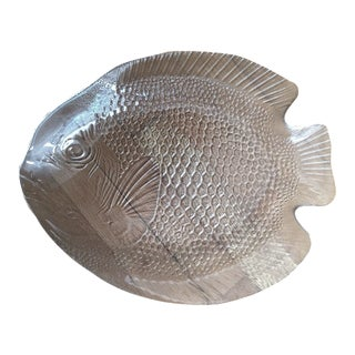 Vintage Clear Glass Fish Platter