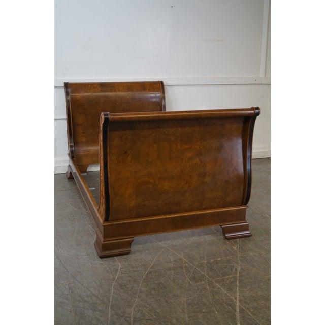 Image of Henredon Charles X Burl Wood Sleigh Day Bed