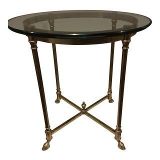Vintage Maison Jansen Brass Side Table