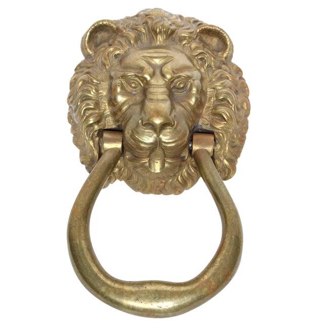 Lion Head Door Knocker - Image 1 of 3