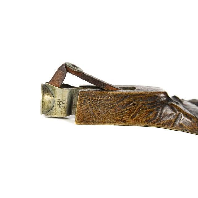 19th Century Bronze Wolf Figure Cigar Cutter - Image 6 of 10