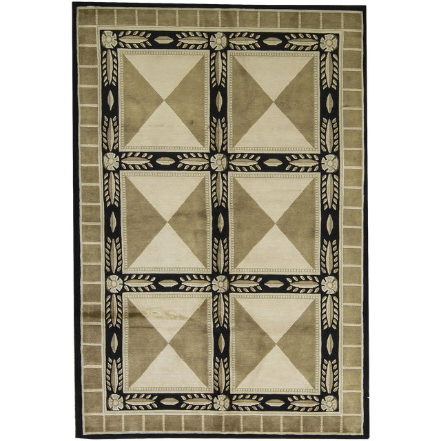 """Contemporary Hand-Woven Rug - 6'2"""" x 9' - Image 1 of 3"""