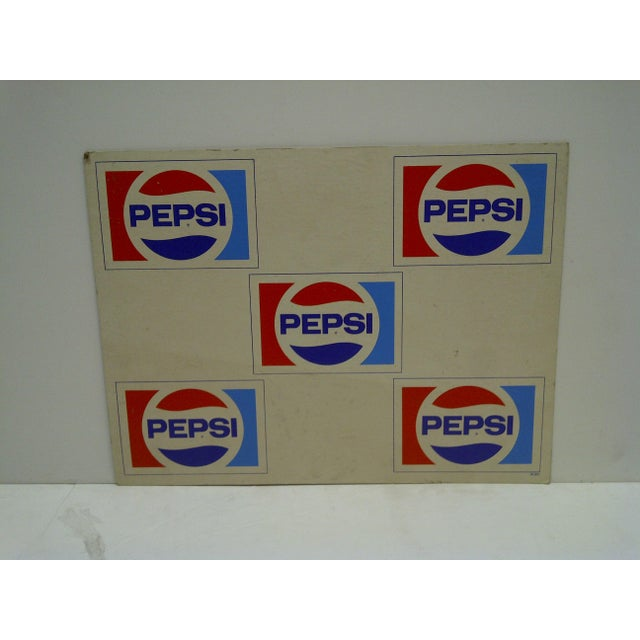 C. 1970 Cardboard Pepsi Advertising Sign - Image 2 of 5
