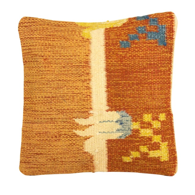 Ancient Motif Tribal Styled Tulip Pillow - Image 1 of 4