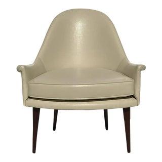 Petite Mid-Century Scoop Back Lounge Chair