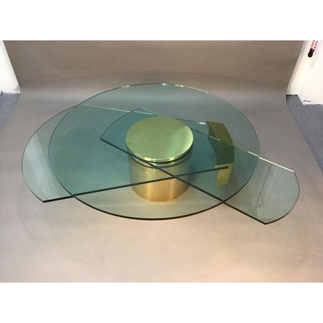 Dakota Jackson Self Winding Brass & Glass Table - Image 3 of 9
