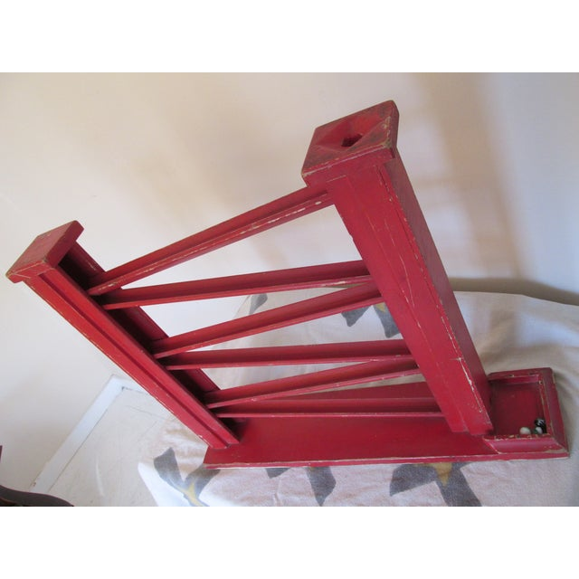 Image of Vintage 1940s Painted Wooden Marble Run
