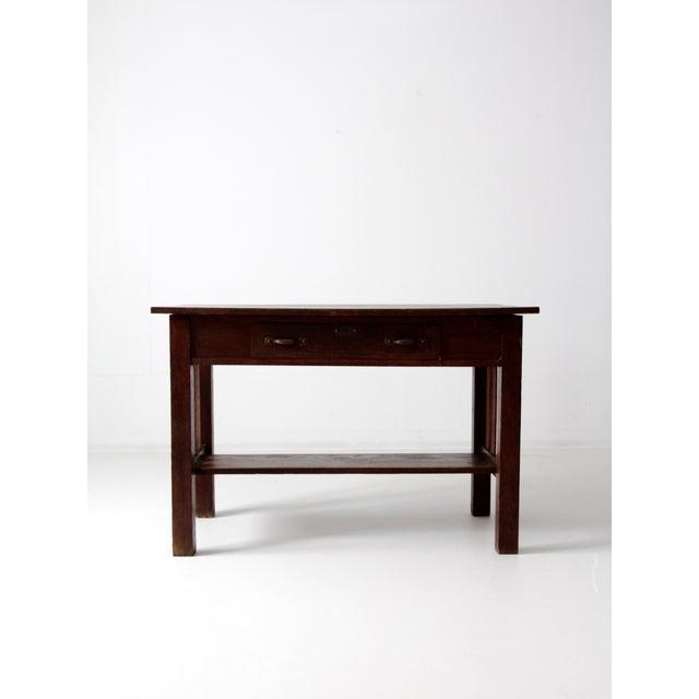 Antique Mission Style Desk - Image 4 of 8