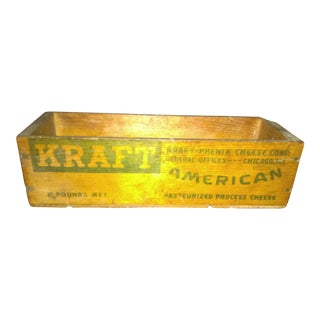 Vintage Kraft American Cheese Wood Box