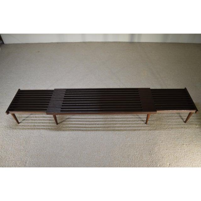 Image of Brown Saltman Expandable Sliding Slat Bench