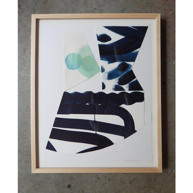 Michelle Armas Blue Dot Collage Watercolor - Image 2 of 3