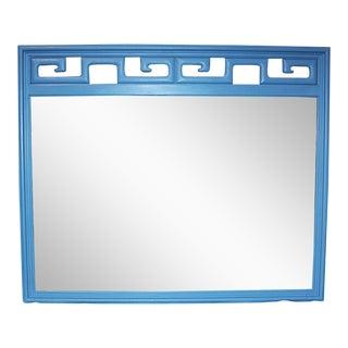 Mid-Century Modern Blue Mirror