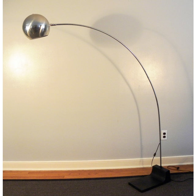 Vintage MCM Arch Chrome Eye Ball Lamp - Image 2 of 7
