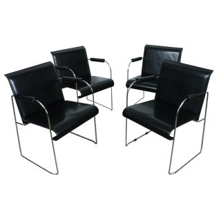 Arrben Italy Arm Chairs - Set of 4