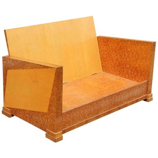 French Art Deco Burl Amboyna Settee