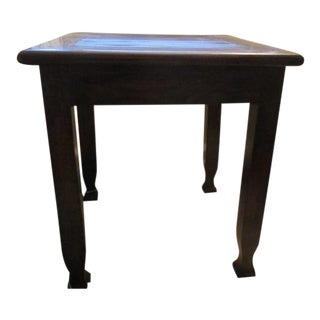 Teak and Bamboo Side Table