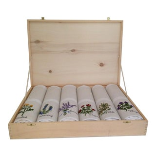 Le Potager Herb Kitchen Towels - Set of 6