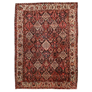 RugsinDallas Antique Hand Knotted Wool Persian Bakhtiari Rug - 11′ × 15′3