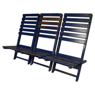 Rustic Nautical Beach Chairs - Set of 3
