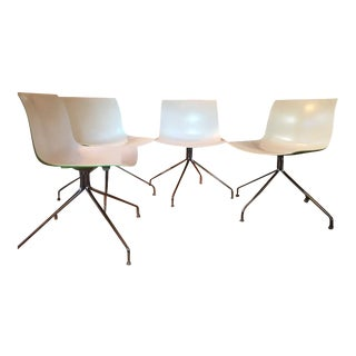 Arper Catina 53 Trestle Swivel Chairs - Set of 4