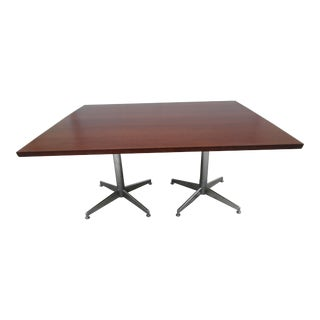 Knoll Conference Table on Double Pedestal Base
