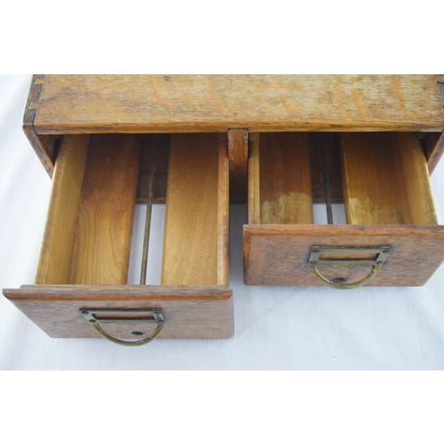 Image of Dovetail Oak Library Card Catalog Box