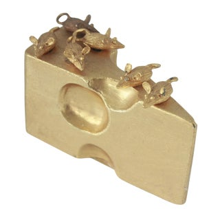Gold Swiss Cheese & Mice Serving Cheese Picks