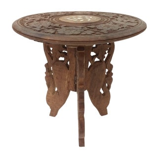Hand-Carved Indian Sandalwood Display Table