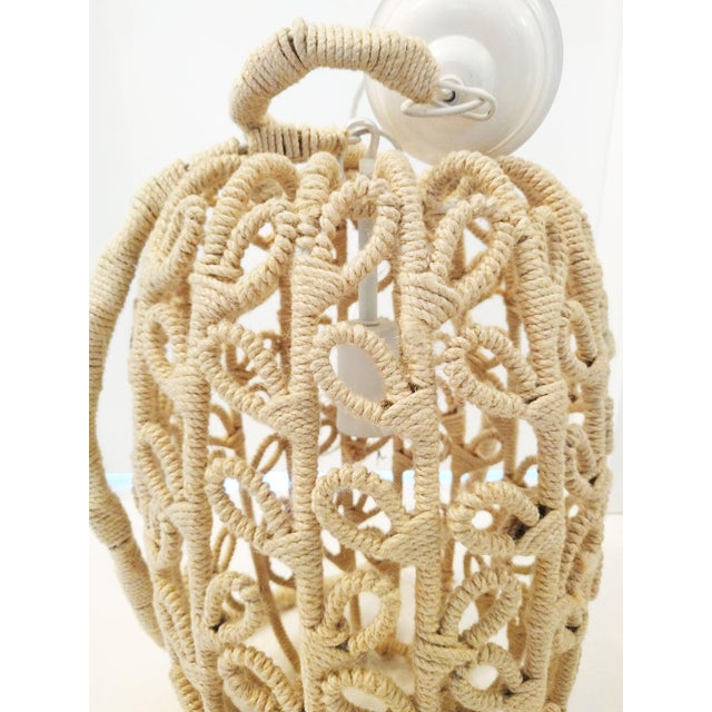 Boho-Chic Jute Pendant Light - Image 6 of 6