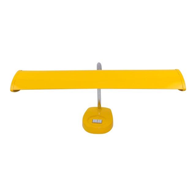 Antique Marigold Yellow Goose Neck Tanker Desk Lamp - Image 1 of 7