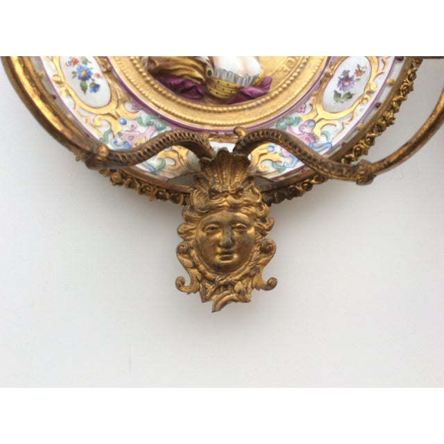 Porcelain & Bronze Royal Portrait Sconces - A Pair - Image 11 of 11